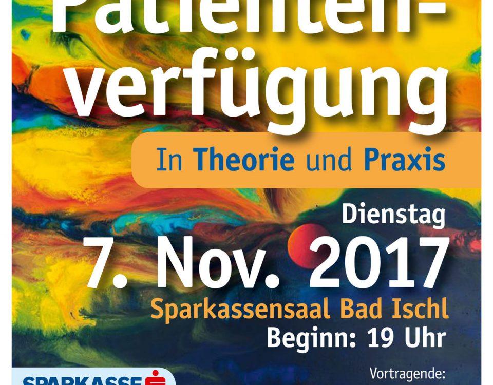 Informationsabend Die Patientenverfügung in Theorie und Praxis am 07. November 2017 19 Uhr